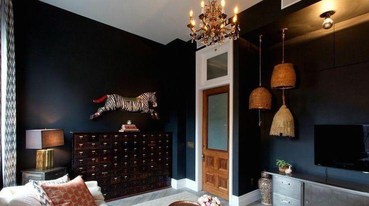 black room, genevieve gorder, living room