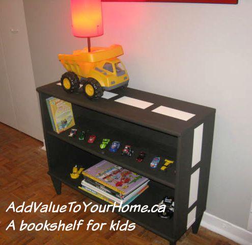 www.AddValueToYourHome.ca The road bookshelf.