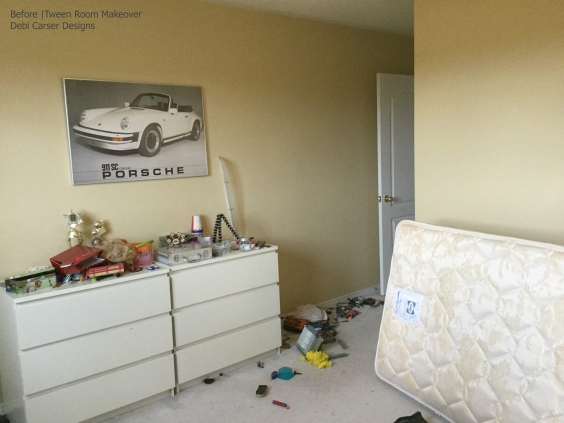 Tween Room Before | Debi Collinson Designs