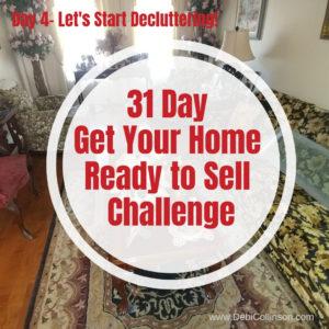 Starting to Declutter: Living room & family room